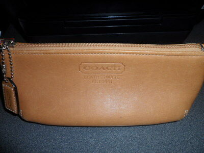COACH Brown leather wallet coin long purse