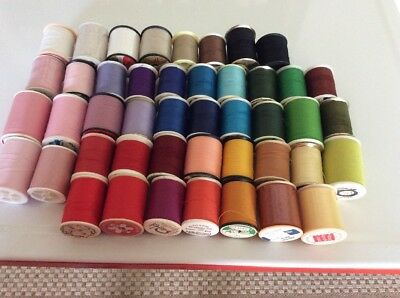 Lot of 45 Spools All Purpose SEWING THREAD ~ Crafts Quilting ~ Colorful Variety