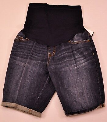 Women's Liz Lange maternity denim shorts size XS cotton mix five pocket