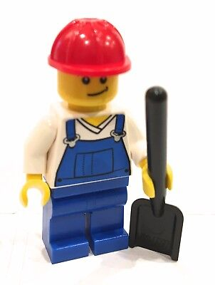 LEGO BLUE OVERALLS WORKER MINIFIGURE JOBLOT VERY FAST FREE UK POSTAGE