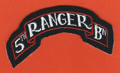WW2 US Army shoulder sleeve patch 5th RANGER BN battalion scroll ORIGINAL