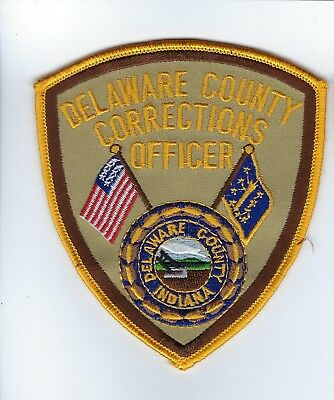 Delaware County IN Indiana Corrections Officer patch - NEW! *Cloth Back*