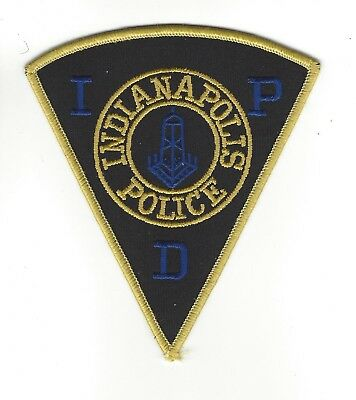 Indianapolis *CAPITAL* IN Indiana Police Dept. *yellow/gold border* patch - NEW!