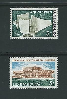 1972 LUXEMBOURG National Monument & Court of Justice Set MNH (Scott 517-518)
