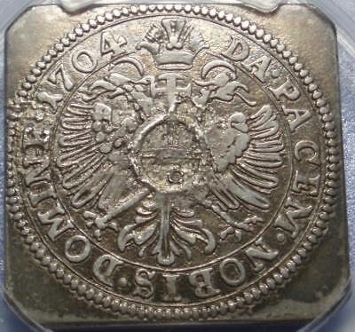 1704 SIEGE of ULM Germany KLIPPE Silver PCGS XF Gulden WAR of SPANISH SUCCESSION