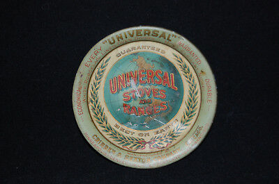 Universal Stoves and Ranges Tin Lithograph Advertising Plate Tray Cribben Sexton