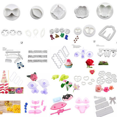 Plastic Cookie Cutter Pastry Biscuit Fondant Cake Decorating Mold Baking Tool