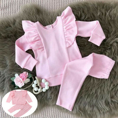 Newborn Infant Kid Baby Boy Girl Romper Bodysuit Jumpsuit Clothes Outfits Lots