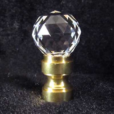 Small Lead Crystal  LAMP FINIAL for old antique shade or lampshade