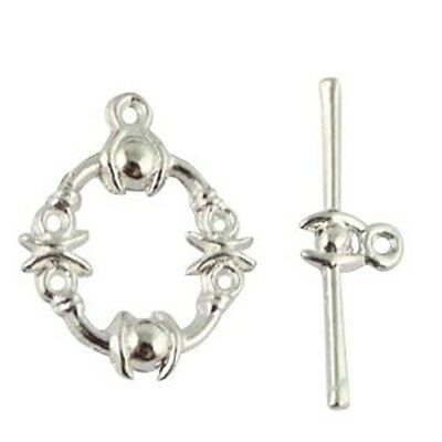 15sets Tibetan Silver Heart Toggle Clasps h0626
