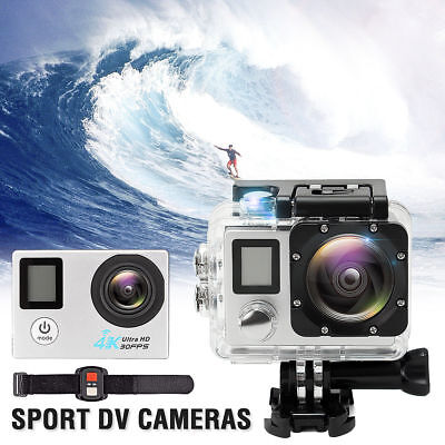 Ultra 4K 1080P DVR Dual Screen 2'' Sports Camera HD WiFi Cam DV Action Camcorder
