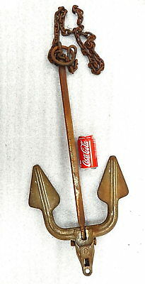 Vintage WWII Navy Folding Boat Ships Iron Anchor 25 pound Wilcox Crittenden
