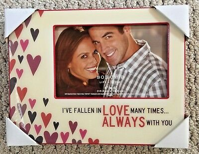 4x6 Sonoma Picture FRAME ~I've Fallen in Love Many Times~ NIB! FREE SHIPPING!