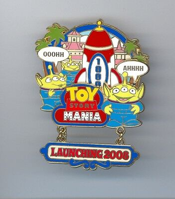 DCA Disney Opening Toy Story Mania Attraction Little Green Men Aliens LE Pin