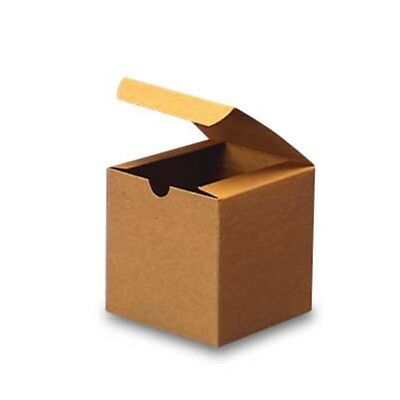 """20 small boxes  3"""" x 3"""" x 3"""" Kraft tuck top boxes party favors, cupcakes"""