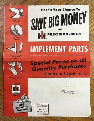 Vintage International Harvester Implement Parts Catalog 1957 * Tractor Supply