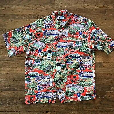 5b2b7000 Mens University of Florida Gators Reyn Spooner Hawaiian Shirt Size XXL 2xl