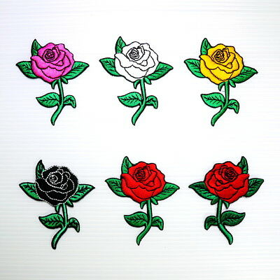 Rose Flower Retro Rock Punk Biker Tattoo Style DIY Clothes Jacket Iron on patch