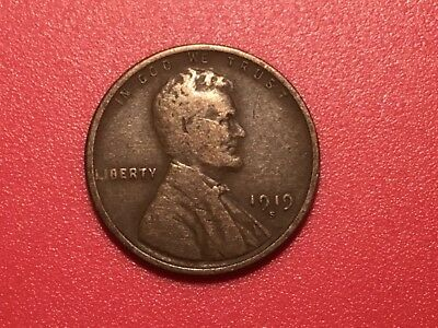 """1919 US """"Lincoln"""" one cent coin."""