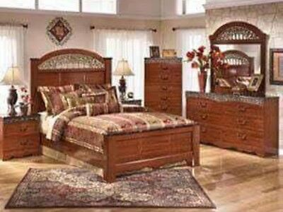 ASHLEY FURNITURE CATALINA Queen Poster 6 Piece Bedroom Set ...