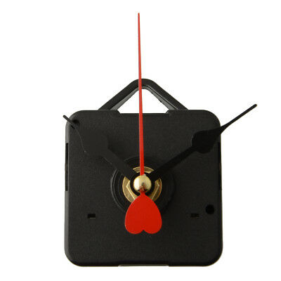 Goodly Clock Movement Mechanism Repair Parts Red Metal Heart Hands DIY 7FDE