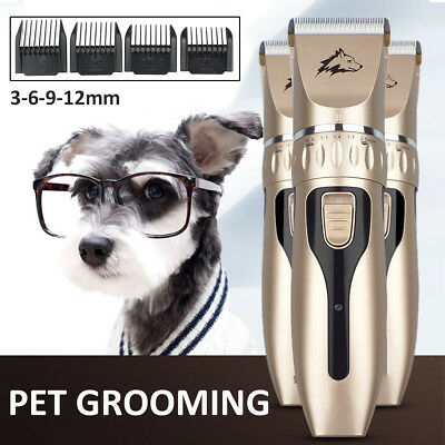 Cordless Electric Pet Dog Cat Fur Grooming Clippers Hair Shaver Comb Groomer Kit