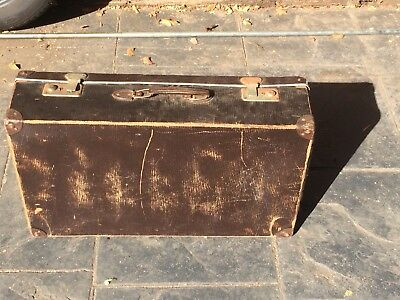 Vintage suitcase with wooden frame