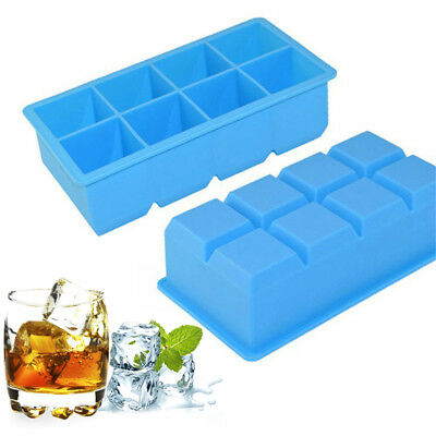 1pc Hot 8-Lattice Cube Giant Jumbo Large Silicone Ice Square Tray Mold Mould Hot