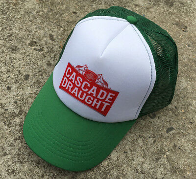 """CASCADE DRAUGHT """"Green"""" Collectable Promotional Beer Adults Baseball Cap Hat"""