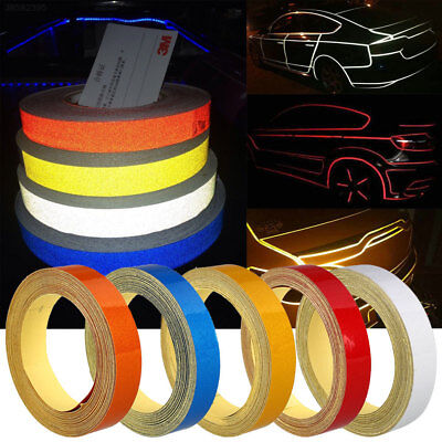 Car Reflective Strip Safety Warning Conspicuity Tape Sticker DIY 1CMx5M FC47