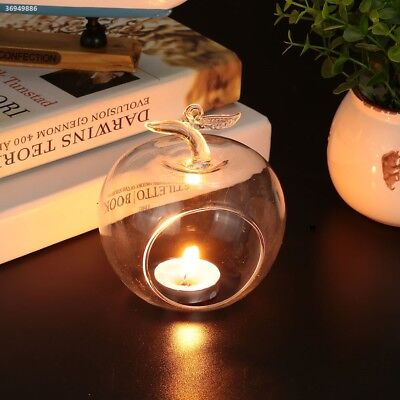 Candle Glass Party Ornament Clear Fashion 3D Apple CDF7
