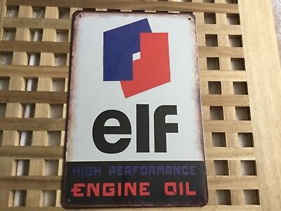 Vintage Retro Style Metal Tin Sign Poster Elf Engine Oil Rare Cave Wall Home
