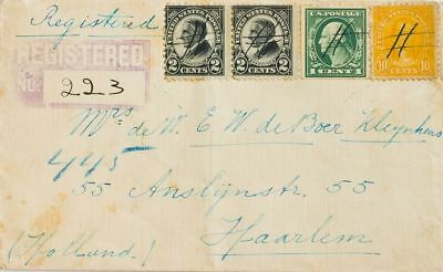 United States COVER. Yv 228, 237, 249(2). 1923. 1 cts green, perforated on two