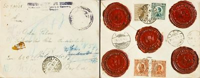 Yugoslavia COVER. Yv 161, 163(2), 171. 1924. 2 d green, 5 d red chestnut, two s