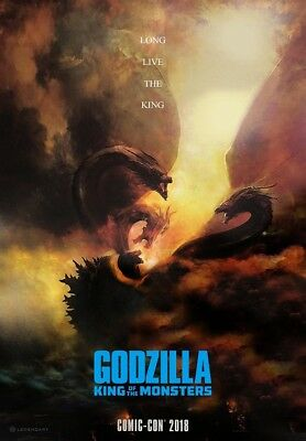 """Godzilla King of the Monsters Movie Poster Comic Con Film Print 24x36"""" 27x40"""""""