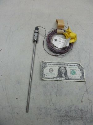 """No Name-High Pressure Thermocouple Probe-2000 Psig-12"""" Long-Tested"""
