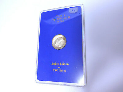 Silbermedaille Visit of Pope John Paul II in Eire 1979 Papst Medaille Silber box