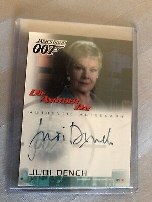 James Bond 007 Die Another Day Judi Dench (M) autograph card