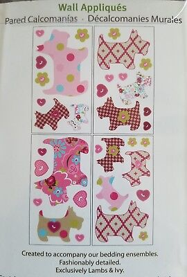 Lambs & Ivy wall appliques-pink Puppy Tales model wall stickers for nursery