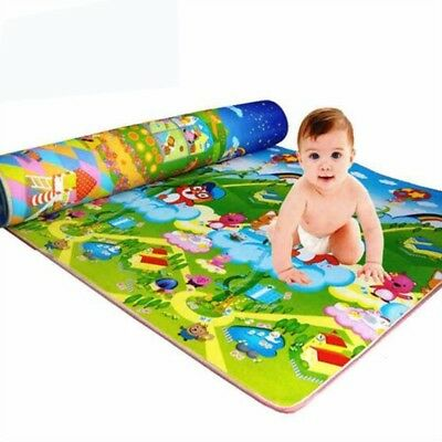 Kids Baby Puzzle Carpet Cartoon Toy Crawl Blanket 2 Side Foam Play Mat 120X180CM