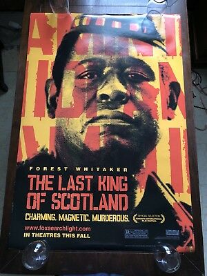 The Last King Of Scotland - Original Double Sided 27x40 Theater Movie Poster
