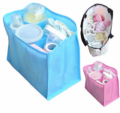 Portable Baby Diaper Nappy Changing Supply Organizer Insert Divider Storage Bag