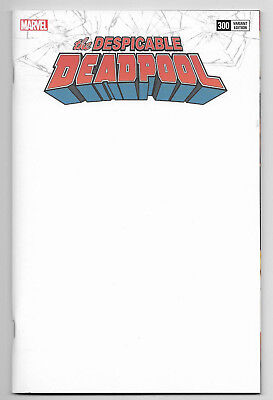 Despicable Deadpool #300 Marvel Comics 2018 Blank Get A Sketch Variant Cover