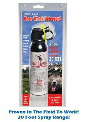 New Frontiersman Bear Attack Deterrent Spray 7.9 oz. 30 Ft w/ Holster  FBAD-04