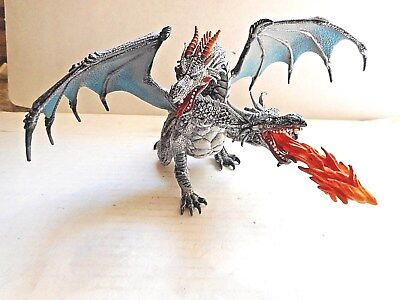 Papo Mythical Fantasy FIRE BREATHING 2 HEADED DRAGON Excellent Condition