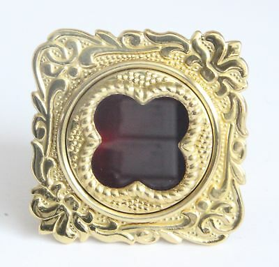 Reliquary / Theca Budded Solid Polished Brass Personal  Glass Front Relic Holder