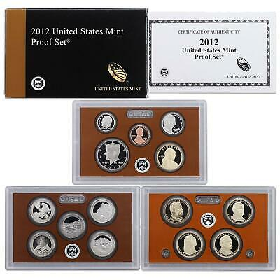 2012 S Proof Set Original Box & COA 14 Coins CN-Clad US Mint