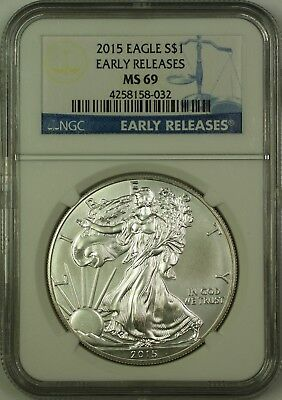 2015 American Silver Eagle ASE Dollar $1 Coin NGC MS-69 Early Releases (A)