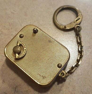 Vintage Reuge Ste. Croix Music Box Key Chain Plays Nice Music, Works