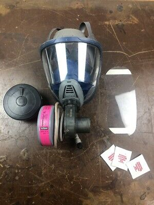 MSA Model ADVANTAGE 3100 Full Face Respirator With Electronic Blower Size MEDIUM